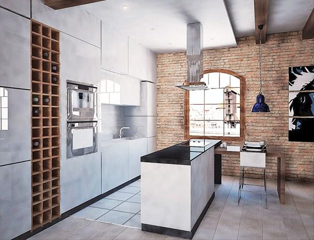 Kuchnia styl Industrialny Kuchnia  zdjęcie od 4Uprojekt Projekty wnętrz
